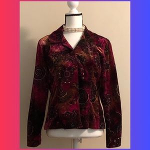 Chico's Luxurious Velvet & Glitter Jacket (Sz 1)